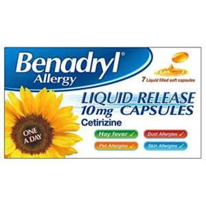 Benadryl allergy